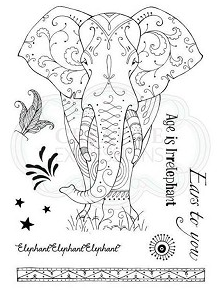 Pink Ink Designs Elephant