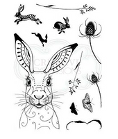 Pink Ink Designs A5 Clear Stamp Hare