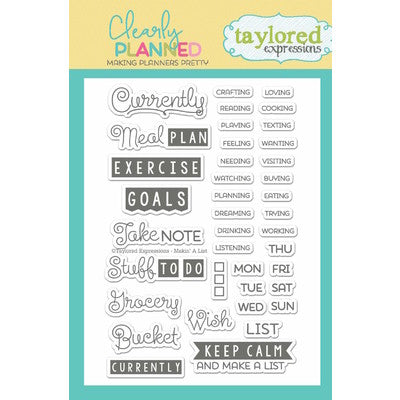 Making a List Taylored Expressions Stamp Set
