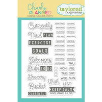 Clearly Planned Taylored Expressions Stamp Set