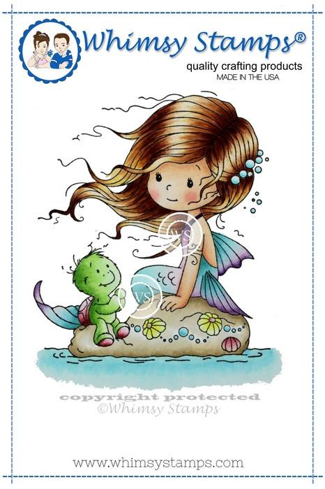 Whimsy Shelley Rubber Cling Stamp 2.9 x 3.3