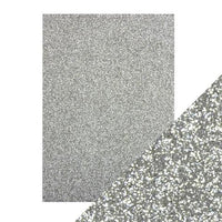 "Tonic Glitter Card Stock Paper Pack Silver Screen 8.5"" x 11"""