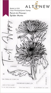 Altenew Paint-A-Flower Spider Mums Stamp Set