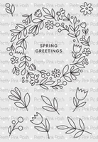 Pretty Pink Posh Stamp Set - Spring Wreath