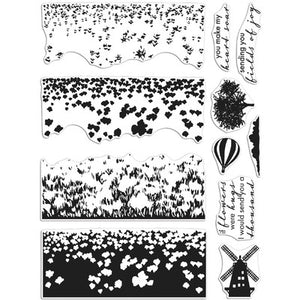 Colour Layering Tulip Fields Hero Art Stamp