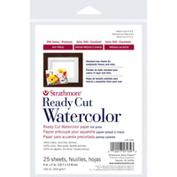"Watercolor Ready Cut Paper Hot Press 25 sheets 5"" x 7"""