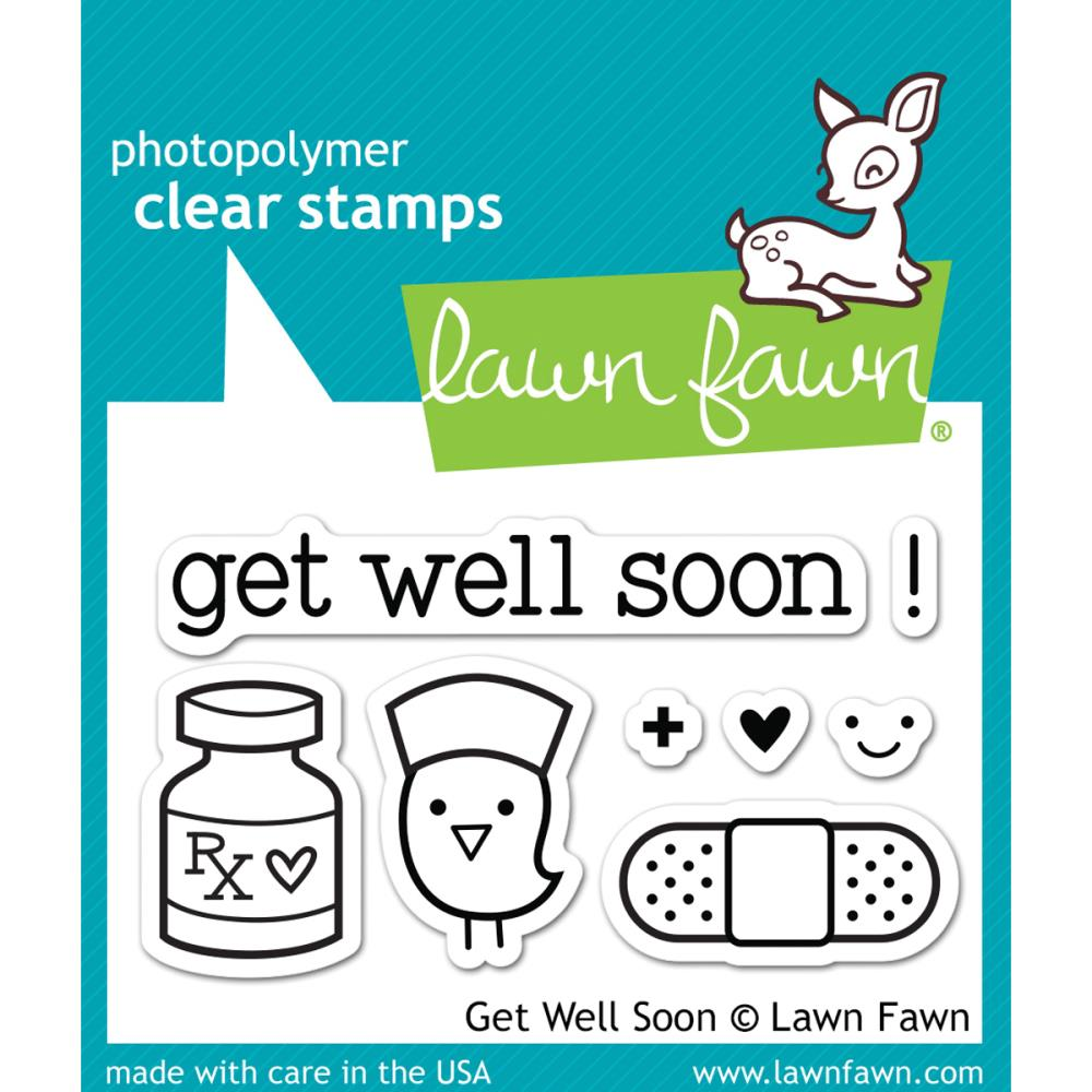 Lawn Fawn Get Well Soon Stamp