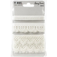49 and Market Lacey Trim Ribbon White