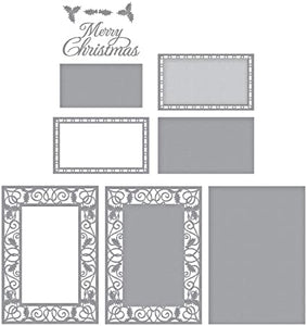 KaiserCraft Christmas Greetings Clear Stamp Set 4x6