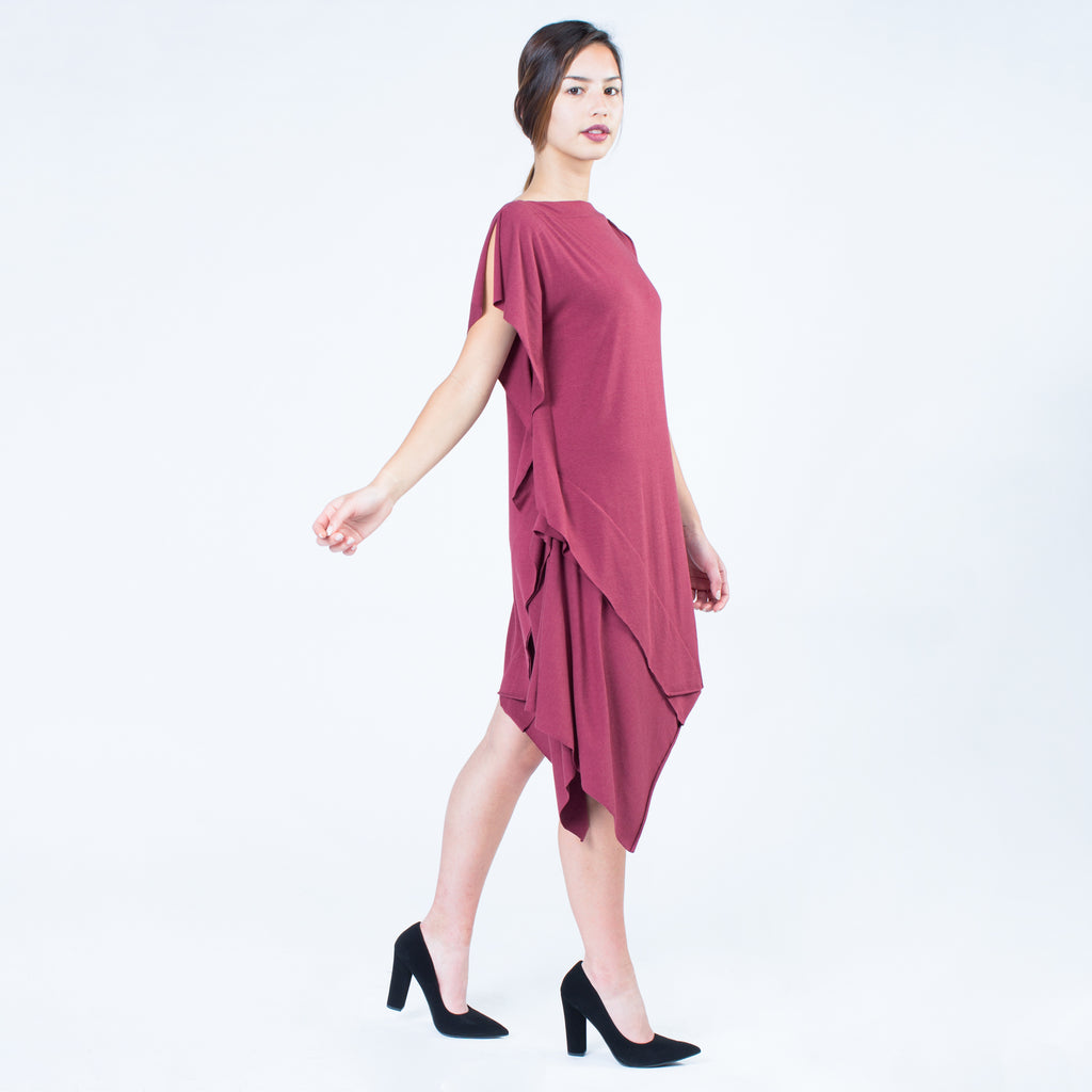 Elyse Dress | Wine