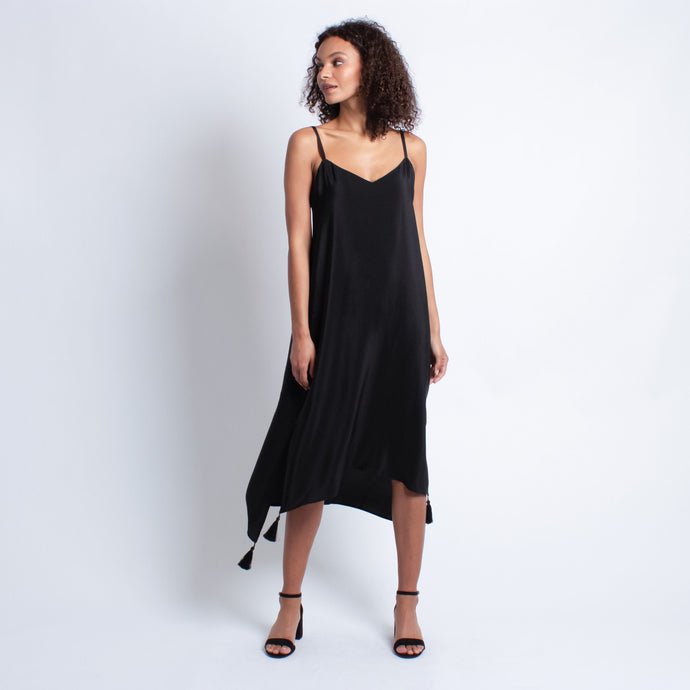 Isabella Silk Dress | Black