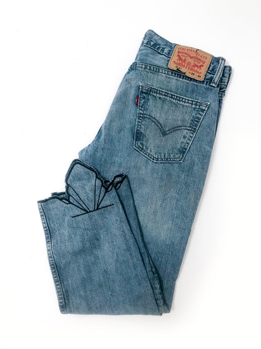 Embroidered Vintage Jean | Mid-Rise & Mid-Wash