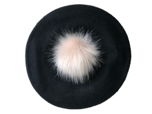 Load image into Gallery viewer, Faux Fur Pom Wool Beret