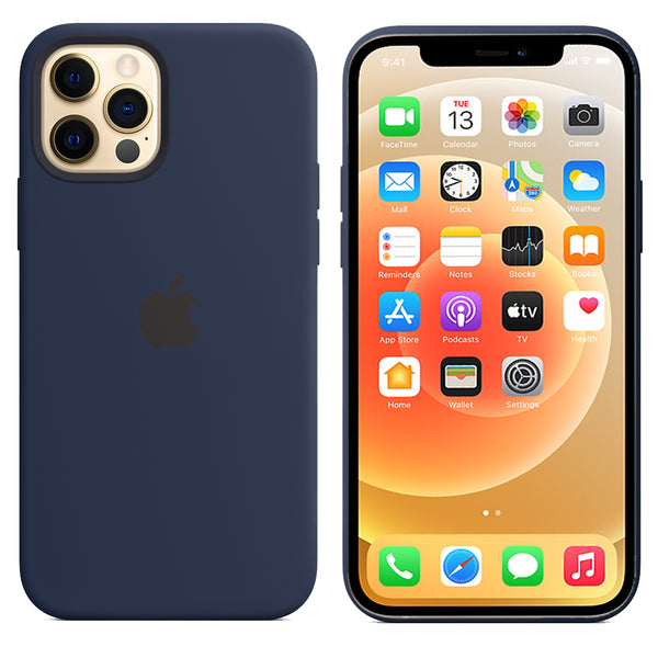 TDG SILICONE CASE FOR APPLE IPHONE 12 / 12 PRO DARK BLUE