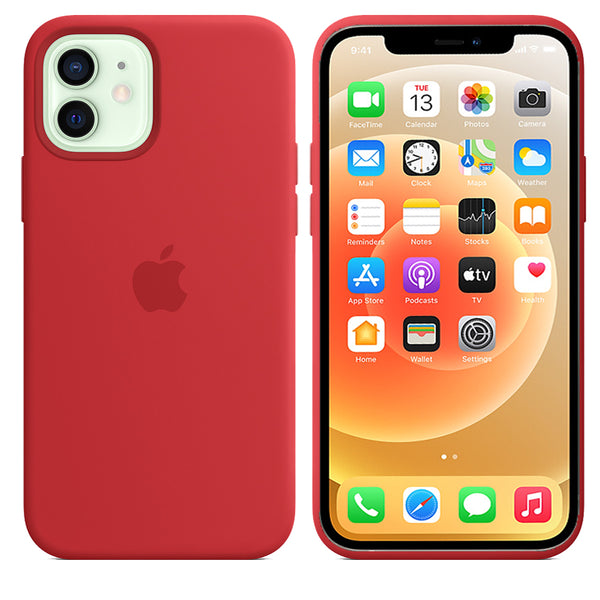 Apple iPhone 12 / 12 Pro Liquid Silicone case Red - YourDeal India