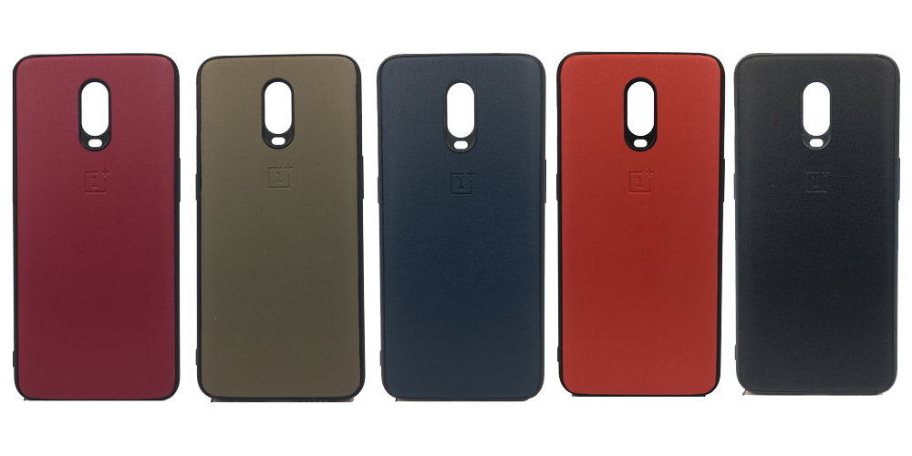 Oneplus 6T Leather Hard Back Soft Side Protective Case