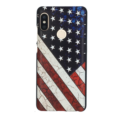 Antique distressed American Flag Xiaomi Redmi Note 5 Pro Star & Stripes Back Cover Case