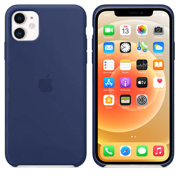 Apple iPhone 12 / 12 Pro OG Silicone Case Cover Full protection Dark Blue - YourDeal India
