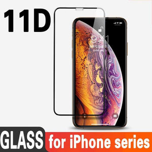 TDG 11D Edge to Edge Tempered Glass for Apple iPhone XS Max Black - YourDeal India