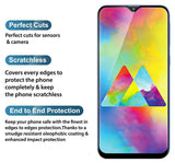 TDG 11D Edge to Edge Tempered Glass for Samsung Galaxy A30 Black | YourDeal India