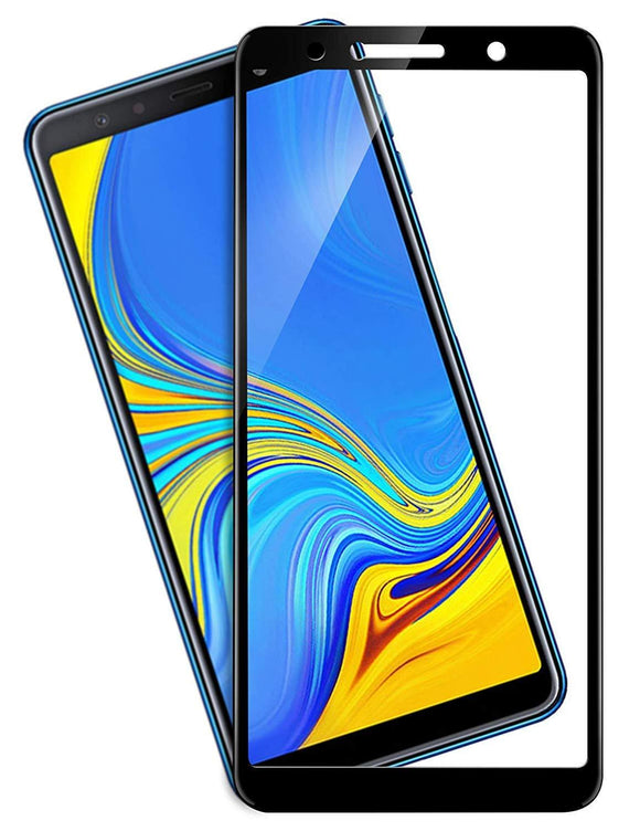 TDG 11D Edge to Edge Tempered Glass for Samsung Galaxy A7 2018 Black | YourDeal India