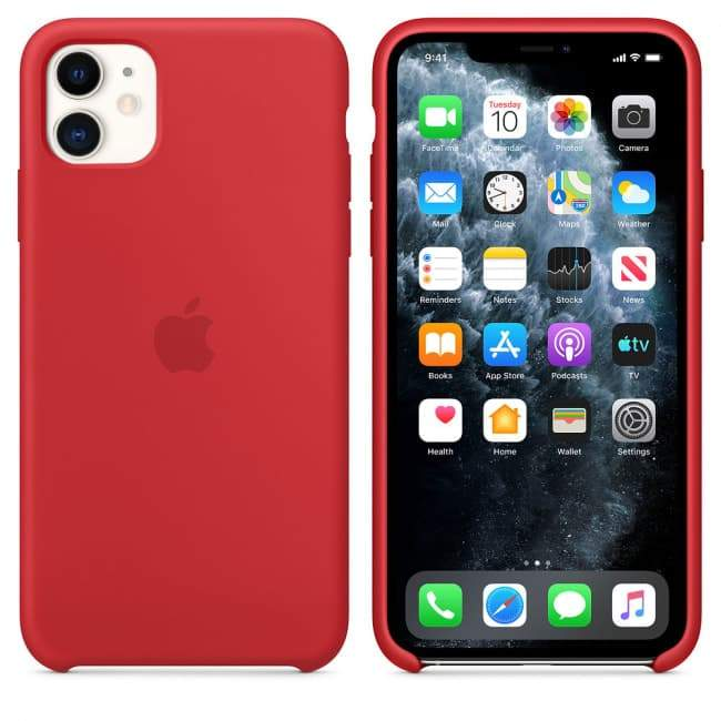 TDG SILICONE CASE FOR APPLE IPHONE 12 / 12 PRO RED