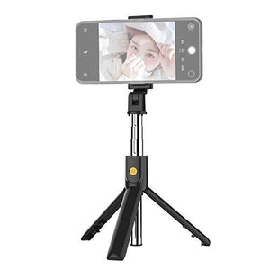 TDG K07 Selfie Stick with Tripod and Wireless Bluetooth Remote Black - YourDeal India
