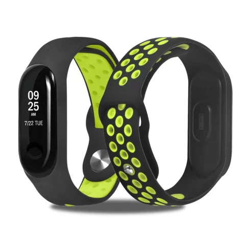 Mi Band 4 Fitness Smart Band Nike Sports Watch Straps Belt Black & Green