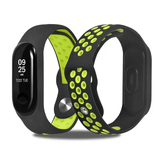 TDG Mi Band 3 Fitness Smart Band Nike Sports Watch Straps Belt BLACK & GREEN Mi Band 3 Watch Straps - YourDeal India