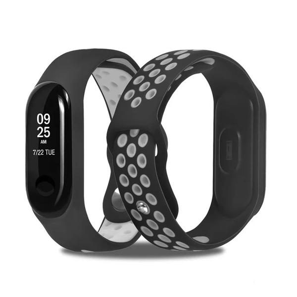 Mi Band 3 Fitness Smart Band Nike Sports Watch Straps Belt Black & Grey