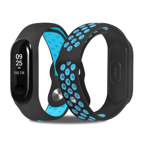 Mi Band 3 Fitness Smart Band Nike Sports Watch Straps Belt Black & Blue