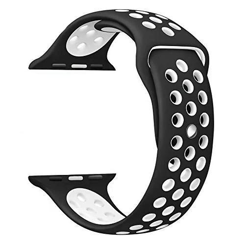 Apple Watch Strap Silicone 42mm for Apple Watch 1 2 3 42mm Black White  Smart Watch Straps - YourDeal India