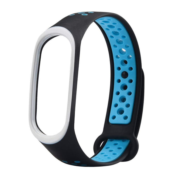 Mi Band 3 Fitness Smart Band Nike Sports Watch Straps Belt Black Blue  Mi Band 3 Watch Straps - YourDeal India