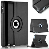 TDG 360 Degree Rotating Case Artificial Leather Cover with Stand Flip Cover For Apple iPad 3 (Black) - YourDeal India