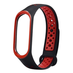 Mi Band 4 Fitness Smart Band Nike Sports Watch Straps Belt Black Red - YourDeal India
