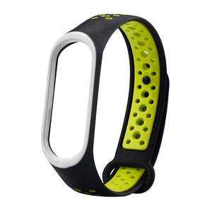 Mi Band 4 Fitness Smart Band Nike Sports Watch Straps Belt Black Green - YourDeal India