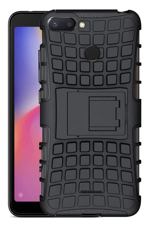 TDG OPPO F9 Pro Rugged Defender Dual Layer Back Cover Case Black - YourDeal India