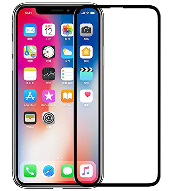 Apple iPhone X 3D Tempered Glass 9H Full Curved Edge to Edge Coverage Black Default Title 3D Tempered Glass - YourDeal India