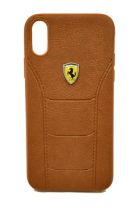 Apple iPhone X XS Ferrari Leather Back Case Cover Brown - YourDeal India