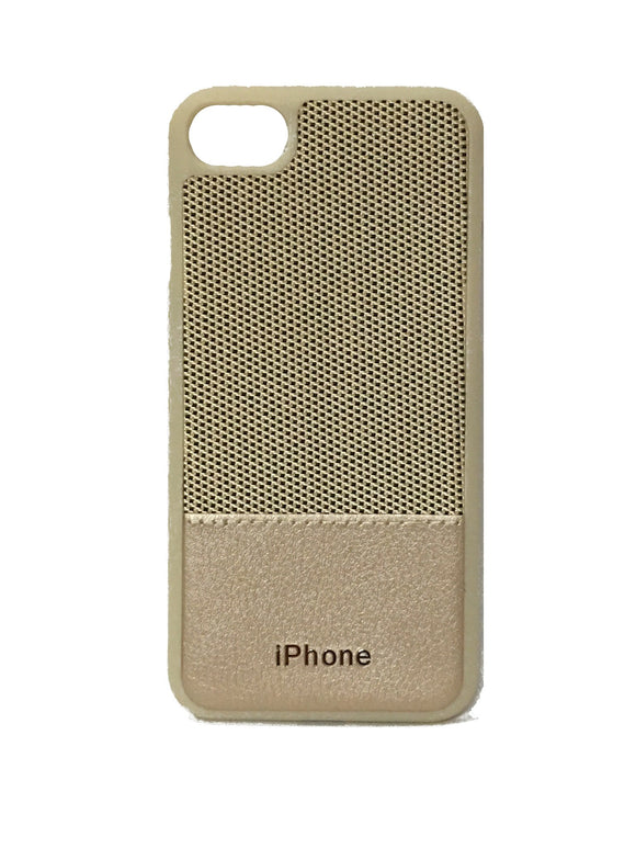 YourDeal Dual Tone Leather Back Cover For Apple iPhone 7 8 (Gold) - YourDeal India