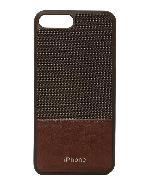 TDG Leather Back Phone Case For Apple iPhone 7 Plus & 8 Plus (Brown) - YourDeal India
