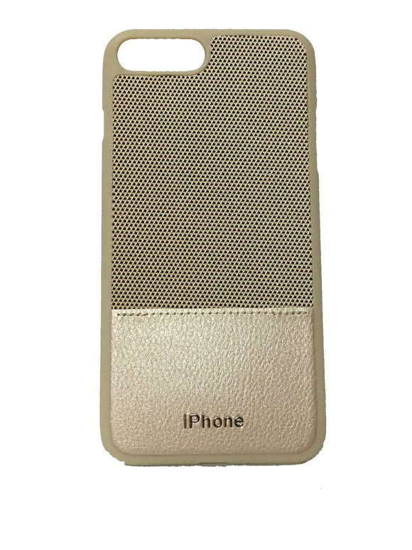 TDG Dual Tone Leather Back Cover For Apple iPhone 7 Plus & 8 Plus (Gold) - YourDeal India
