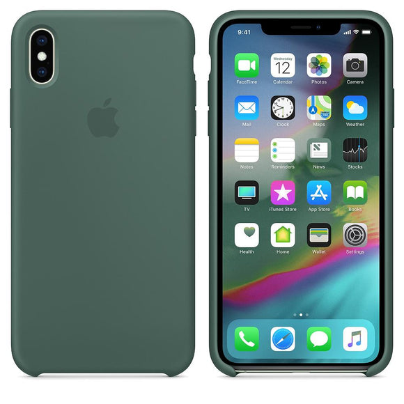 TDG iPhone XS Max SIlicone Case OG Dark Green  iPhone XS MAX OG Silicone Cases - YourDeal India