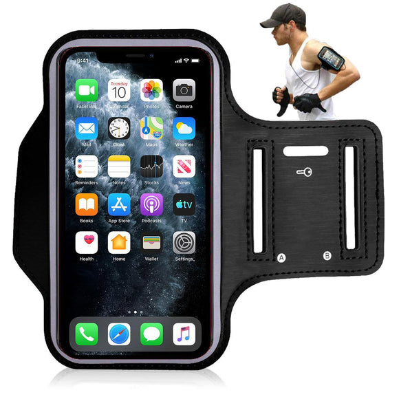 Sports Running Armband Case for Apple iPhone SE (2020) Black - YourDeal India