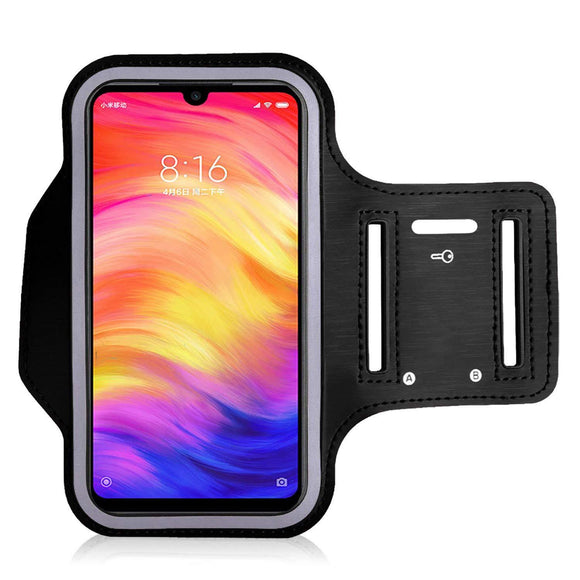 Sports Running Arm Band Case for Redmi Note 7 Pro Black - YourDeal India