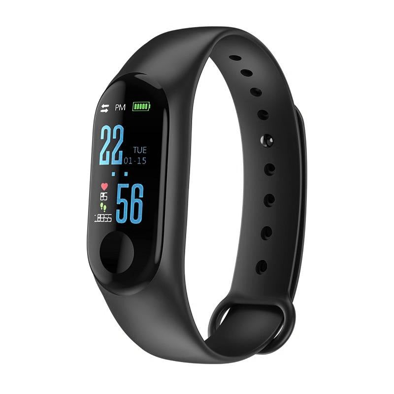 TDG M3 Smart Band Color Screen Blood Pressure Oxygen Heart Rate Android iOS