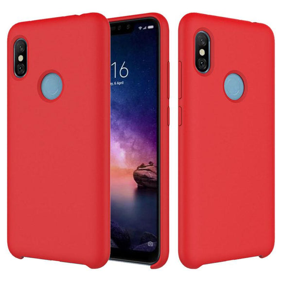 TDG Redmi Note 5 Pro Soft Silicone Protective Back Case Red | YourDeal India