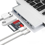 Type C (USB-C) 6 in 1 Hub with Card Reader and PD Charging for Apple Macbook - YourDeal India