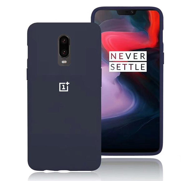 TDG Oneplus 6T OG Silicone Protective Back Case Navy Blue | YourDeal India