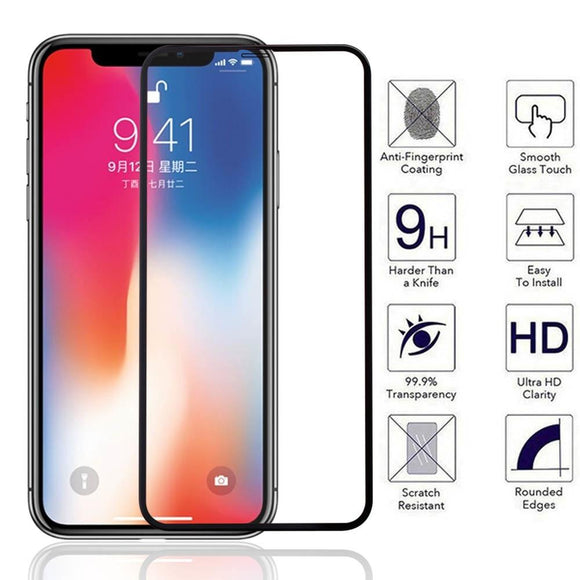 TDG 11D Full Cover Tempered Glass for Apple iPhone X XS Black | YourDeal India